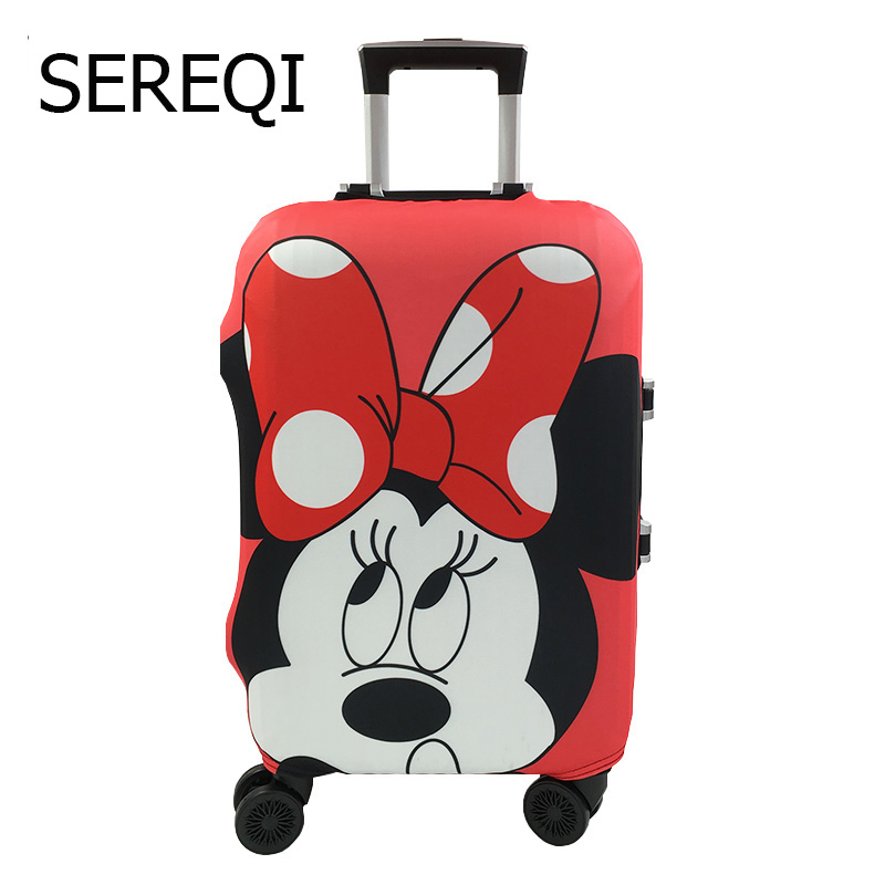 Sereqi Suitcase Luggage Cover,Elastic Case Covers For 19 32 Inch Trolley,Baggage Dust Protective Cover Travel Accessories