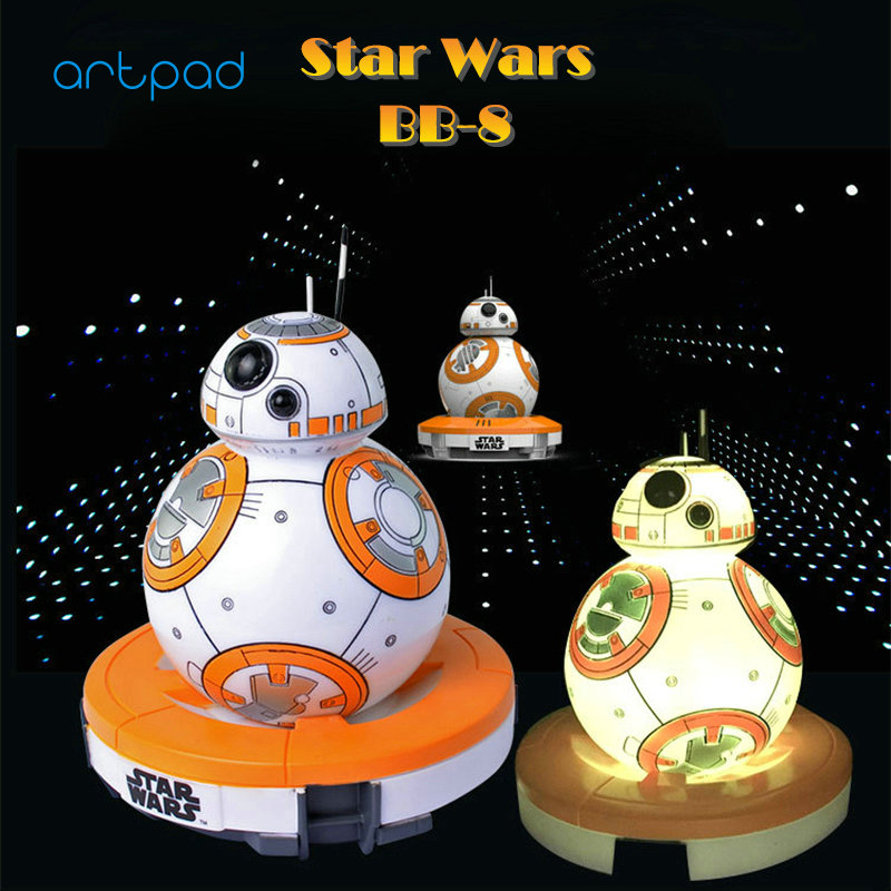 Artpad BB-8 Star Wars Night Light Force Awakens Multi Color RGB 3D Star Wars Table Lamp With Switch for Boy Children Lighting 2018 star wars the force awakens bb 8