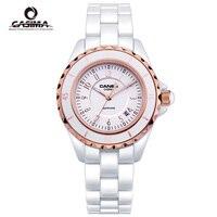 Luxury Brand CASIMA Women Watches Reloj Mujer Ceramic Ladies Quartz Wrist Watch Female White Clock Montre