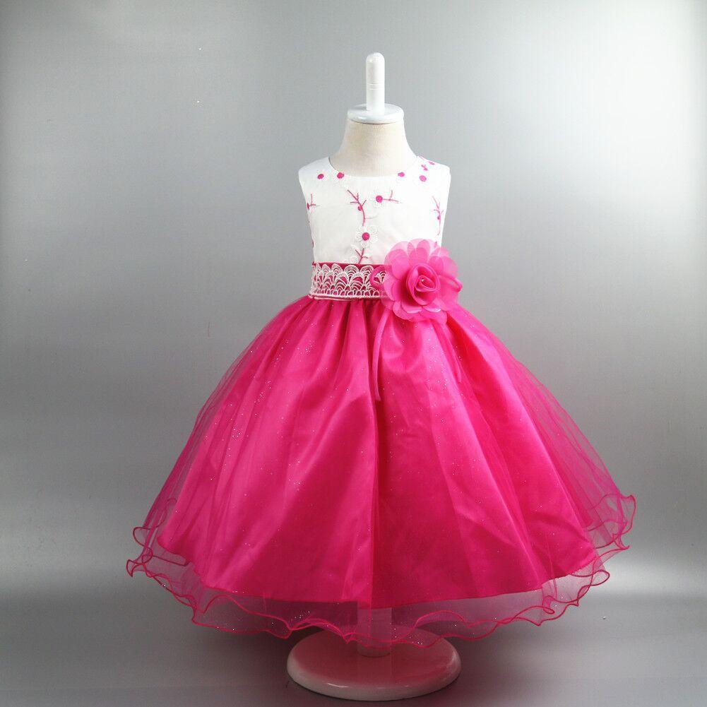 2017 NEW summer hot Sell Embroidery grenadine dress flower princess Costume girls dress clothes Girls Kids 3 4 5 6 7 8 9 10 Year