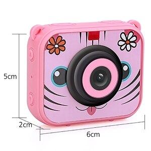 Image 3 - Милая Детская цифровая видеокамера, 1080p, Спортивная экшн камера, 30 м, водонепроницаемая Встроенная батарея, подарок для детей, мальчиков и девочек