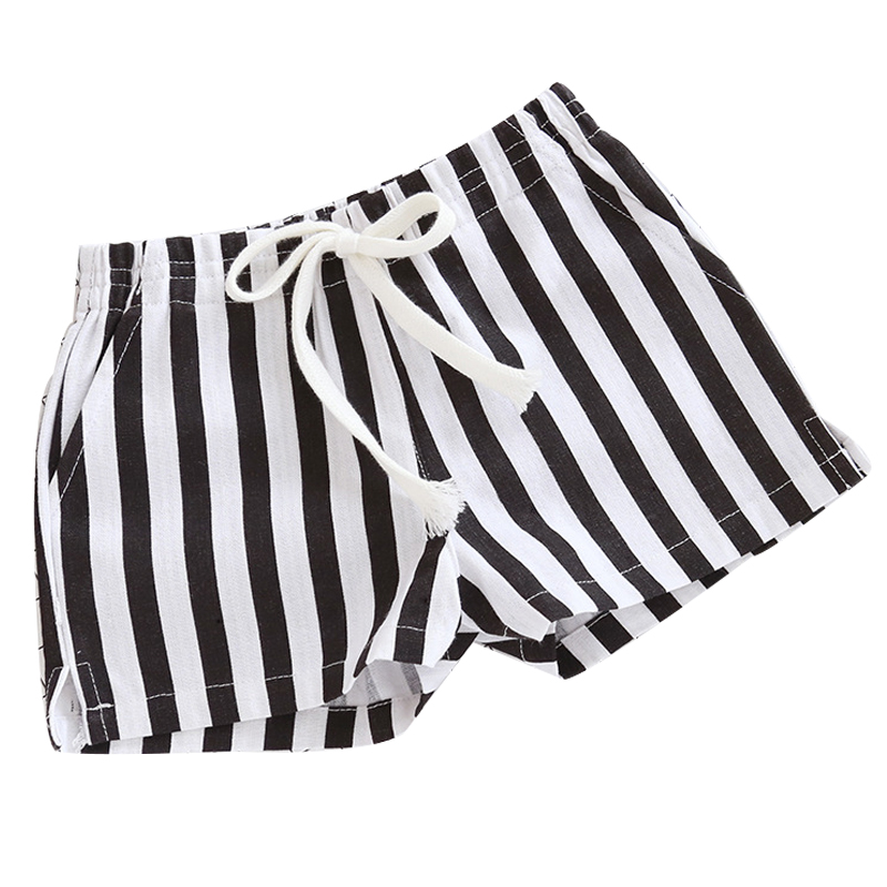 2016 children han edition trousers in summer the new child stripe cotton boy shorts girls hot