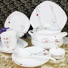 YH Porcelain tableware set jingdezhen ceramic quality bone china 56 hereupon dinnerware set brief puff