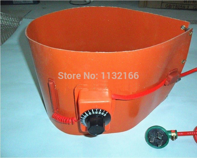 110V 860mm*200mm Silicon Band Drum Heater Oil Biodiesel Plastic Metal Barrel Electrical Wires купить