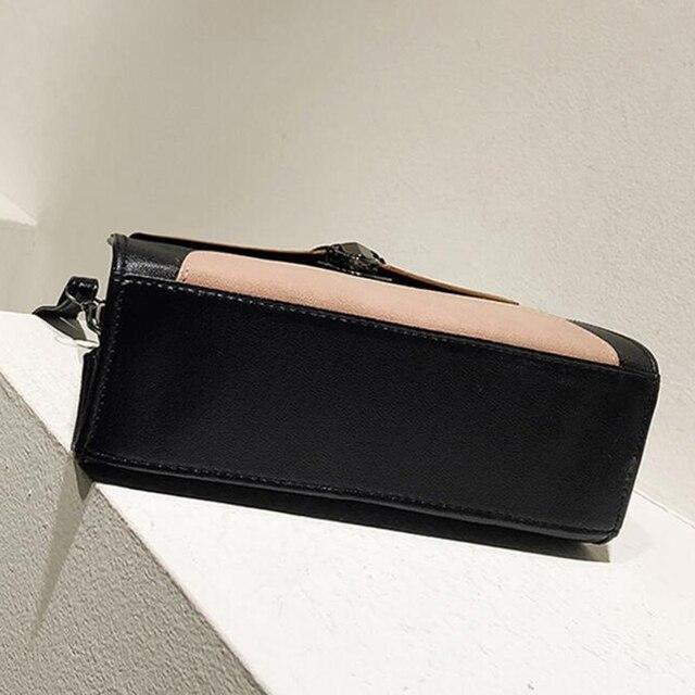 Women Casual Leather Sling Handbag Girls Crossbody Bag Patchwork Color Messenger Shoulder Bag Female Elegant Handbag 4