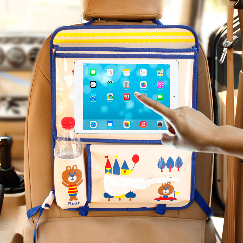 New Car-Styling Car Organizer Touched IPAD Bags Car Seat Travel Bag Back Pocket Multifunctional Automobile Hanging Storage Bag hot sell car covers waterproof fabric car auto vehicle seat side back storage pocket backseat hanging storage bags organizer