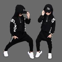 Children Autumn Spring Boys Hip Hop Suit Full Sleeve Sweatshirts Haren Pants Trousers 2Pcs Sets For