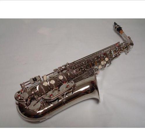 Argento professionale Sassofono Contralto Sax Brand New - 4