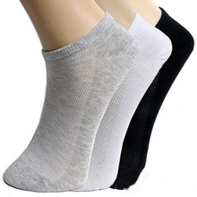 Hot sale men socks 3 pairs/lot Prevent stinky cotton Breathable calcetines hombre black gray white