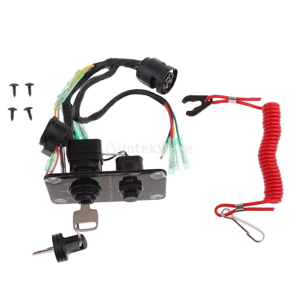 Outboard Single Engine Key Switch Panel for Yamaha 704-82570-12-00 [zob] reset 704 123 018 704 121 018 import switzerland eao key switch lock hole 30 5 2pcs lot