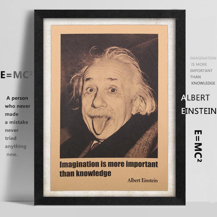 vintage Albert Einstein paper poster