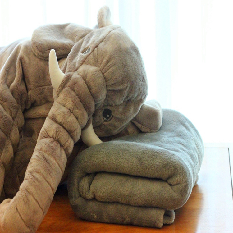 Animal Pillow Blanket : 60cm Lovely Plush Elephant Pillow+Blanket Cute Elephant Stlye Plush Toy Animal Toy Kids Plush ...