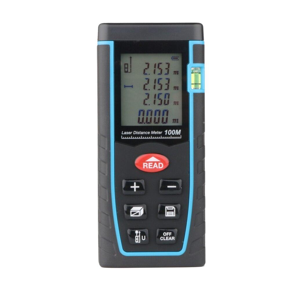 ФОТО RZ-T100 Laser Distance Meter 100M   Laser Rangefiner Electronci Ruler  Digital Laser Tape Measure Area/volume M/Ft/in Tool