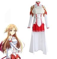 Anime Sword Art Online Cosplay Costume Red Skirts Yuuki Asuna Cosplay Costumes
