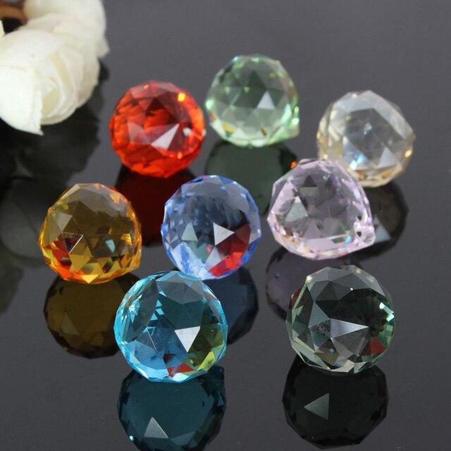 8 pièces lustre en cristal pièces Haning prismes en verre arc-en-ciel Suncatcher pendentifs pour lampe de lumière lustre pendentifs