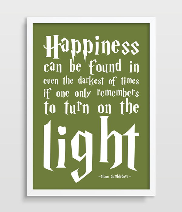 Harry Potter Poster Albus Dumbledore Quote Happiness Can Be Found