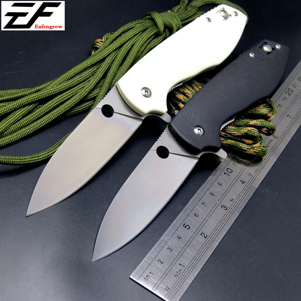 Eafengrow C195 Folding Blade Knife Rubicon 9CR18Mov G10 Handle Ball Bearing Flipper Camping Survival Knives EDC Outdoor Tool  цены