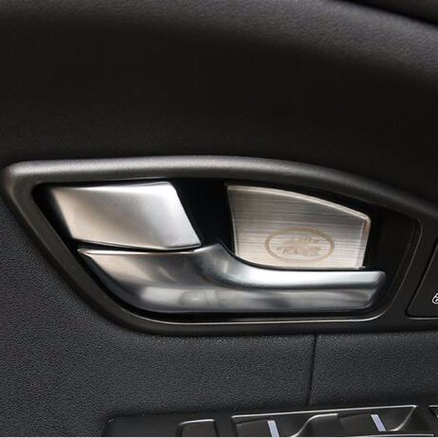 Superior Inner Door Handles Wrist Bowl Cup Protective Cover Sticker Trim For Range  Rover Evoque Interior Mouldings