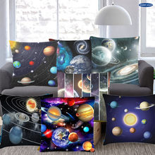 Square Decorative Throw Pillow Case ,12 Constellation Universe Galaxy Space Stars,Supersoft Pillowcase(China)
