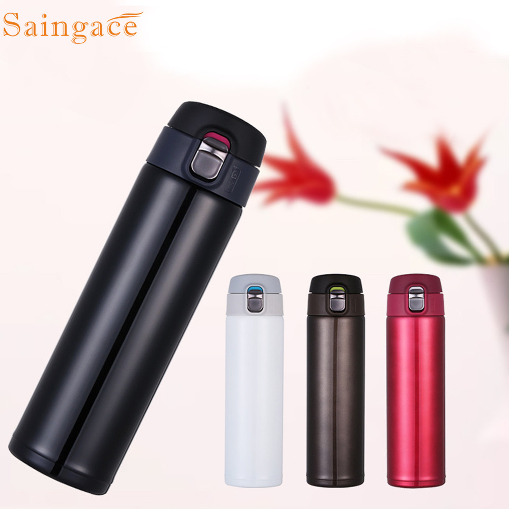 Saingace Travel Thermos Cup Portable Stainless Steel Flask Thermos Coffee Cups Mug Office Water Bottle 2019 new dropshipping hot