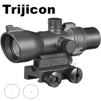 Hunting Riflescope 1x24 Scope Red Dot 20/11mm Weaver Picatinny Rail Mounts For Tactical Airsoft