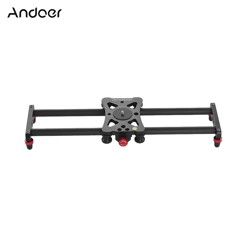 Andoer Mini Track Slider Photography Video Slider Screw Mounts with Phone Holder for GoPro Hero Action