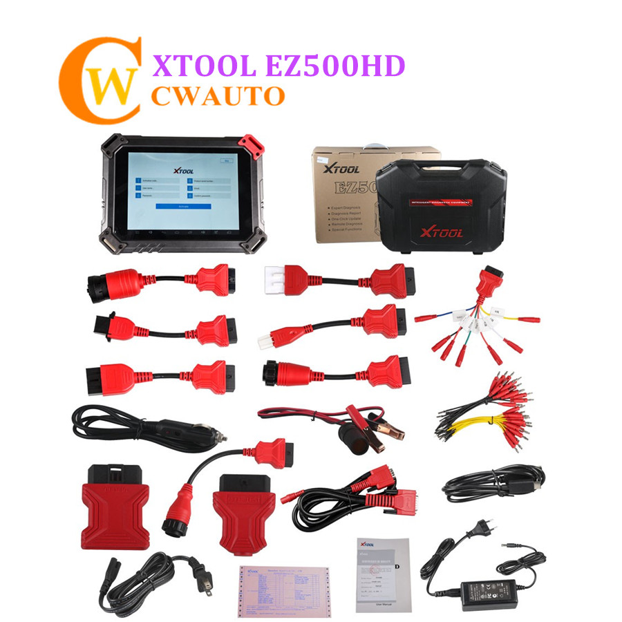 Original Xtool EZ500HD EZ500 HD Tablet Diagnosis System with Special Functions for Heavy Duty Truck Online Update