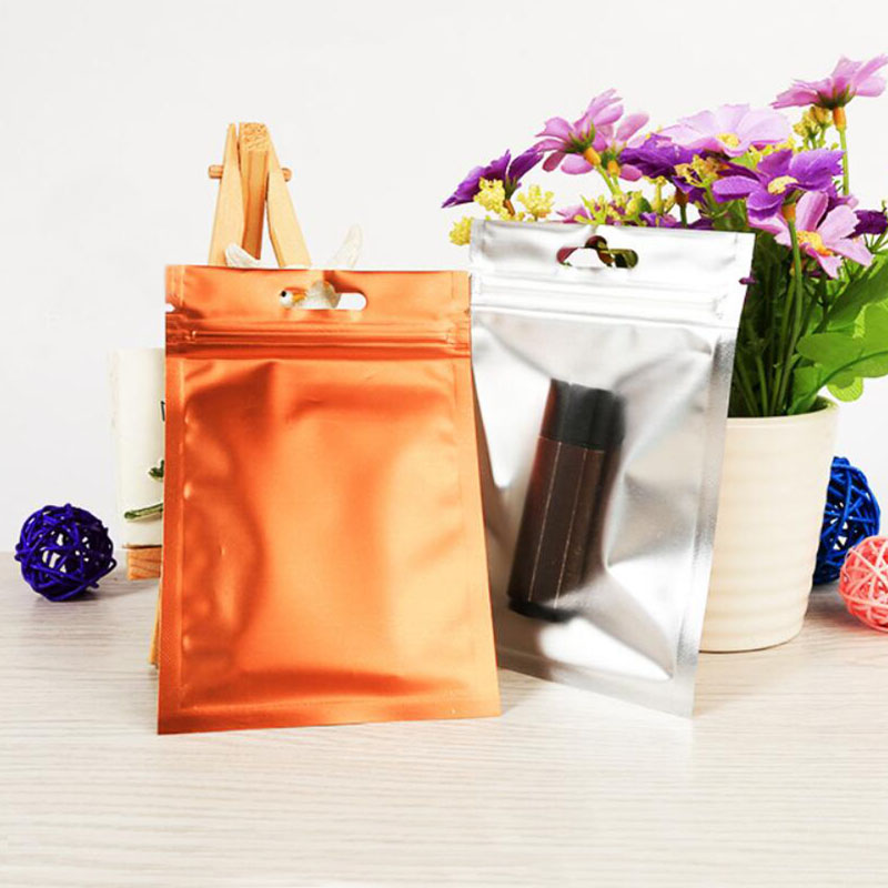 100 Pcs Colorful Aluminum Foil Bag Self Seal Ziplock Packing Food Bag Retail Green Blue Black Date Wire Jewelry Packaging Pouch in Storage Bags from Home Garden