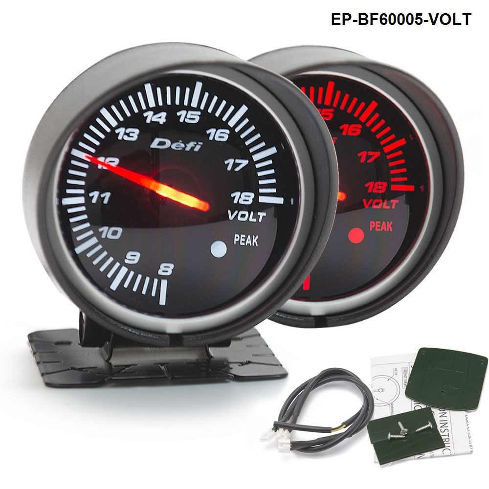 BF 60mm LED Volt Gauge High Quality Auto Car Motor Gauge with Red & White Light For BMW e34 2000-2003 EP-BF60005-VOLT