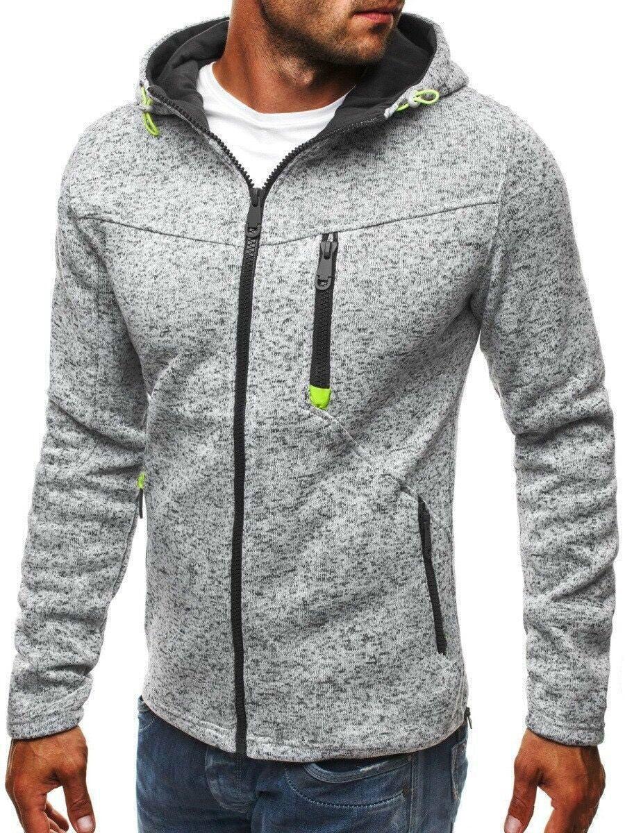 Men Sports Wear s Hooded hoodie Streetwear Tide Jacquard Hoodies Zipper Sweatshirt Male Hoody Autumn Winter Casual