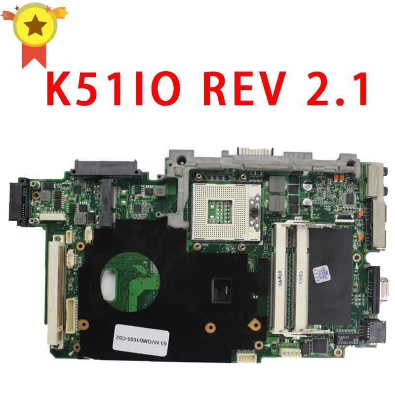 For ASUS K51IO X66IC K61IC K70IO laptop Motherboard REV 2 1 MCP79D B2 60 NXXMB1000 A03