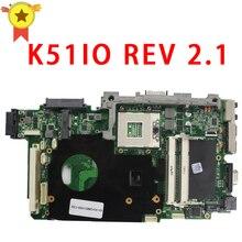 For ASUS K51IO X66IC K61IC K70IO laptop Motherboard REV:2.1 MCP79D-B2 60-NXXMB1000-A03 MPGA478MN DDR2 Mainboard