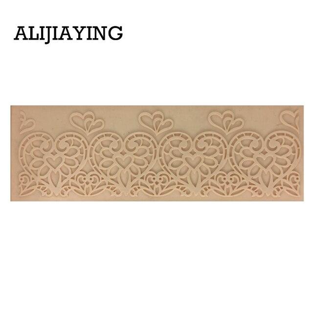 M1338 serce miłość tekstury kształt koronki mat kremówka silikonowe formy do dekoracji słodyczy i ciast dekorowanie narzędzia gliny formy diy akcesoria kitche