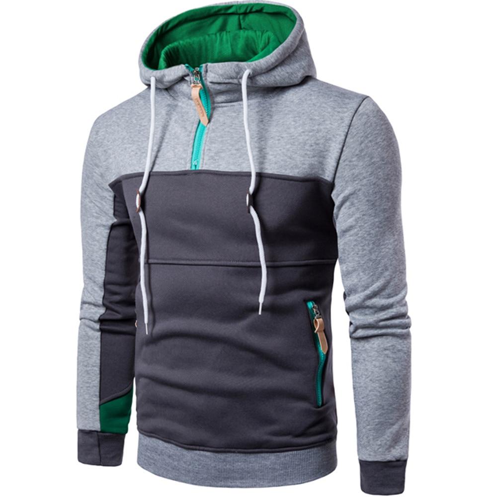 Autumn Winter Men Sweatshirts Long Sleeve Hoodie Hooded Sweatshirt Tops Jacket Coat Outwear male Tops Shirt Fashion Casual Coats