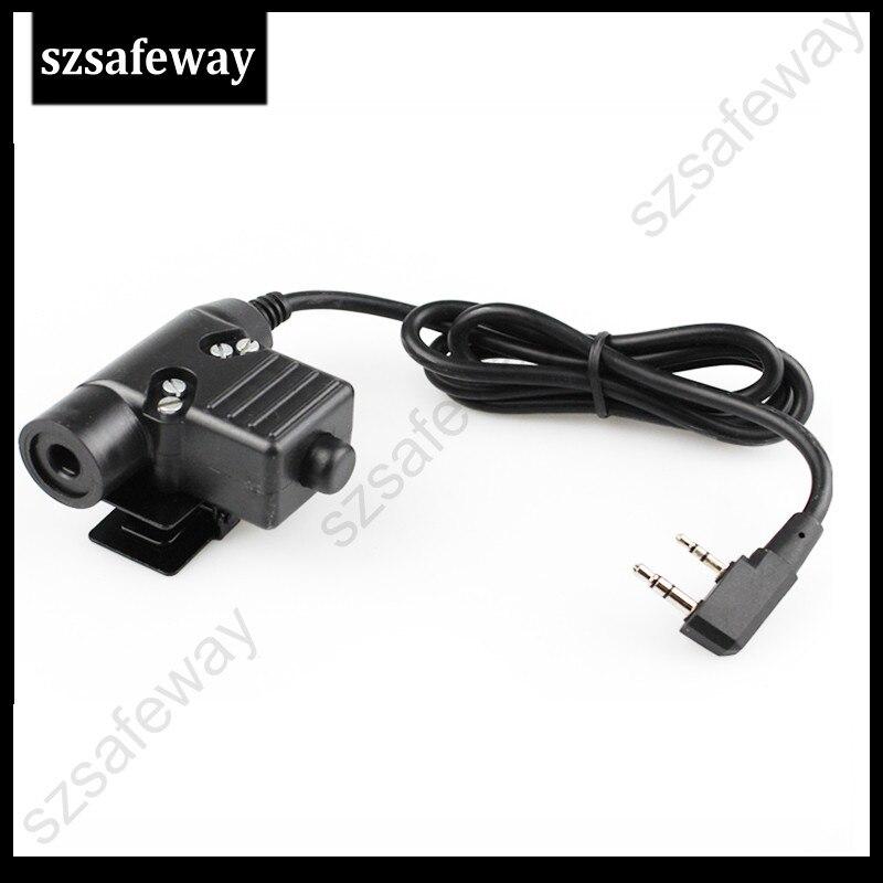 5X U94 PTT Cable Plug For Kenwood  Z Tactical Bowman Elite II Headset HD01 HD02 Radio Headset Earpiece PPT For Kenwood Baofeng