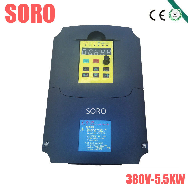 380V 5.5kw Frequency Drive Inverter CNC Driver CNC Spindle motor Pump Speed control Vector converter inverters