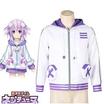 High-Q Unisex Anime Cos Hyperdimension Neptunia Neptune Cosplay Costume Hoodie Jacket Coat