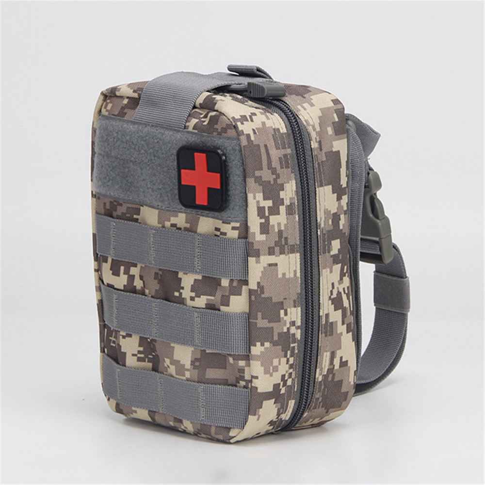 New A4 Portable Outdoor Tactical First Aid Kit Medical Bag Waterproof Oxford Cloth Mountaineering Rescue Kit Mobile Phone Bag