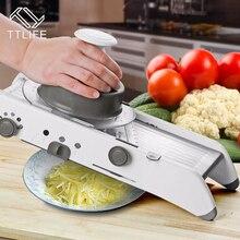TTLIFE Einstellbare Mandolinenschneider Professionelle Reibe mit 304 Edelstahl Klingen Gemüse Cutter Küchenwerkzeuge