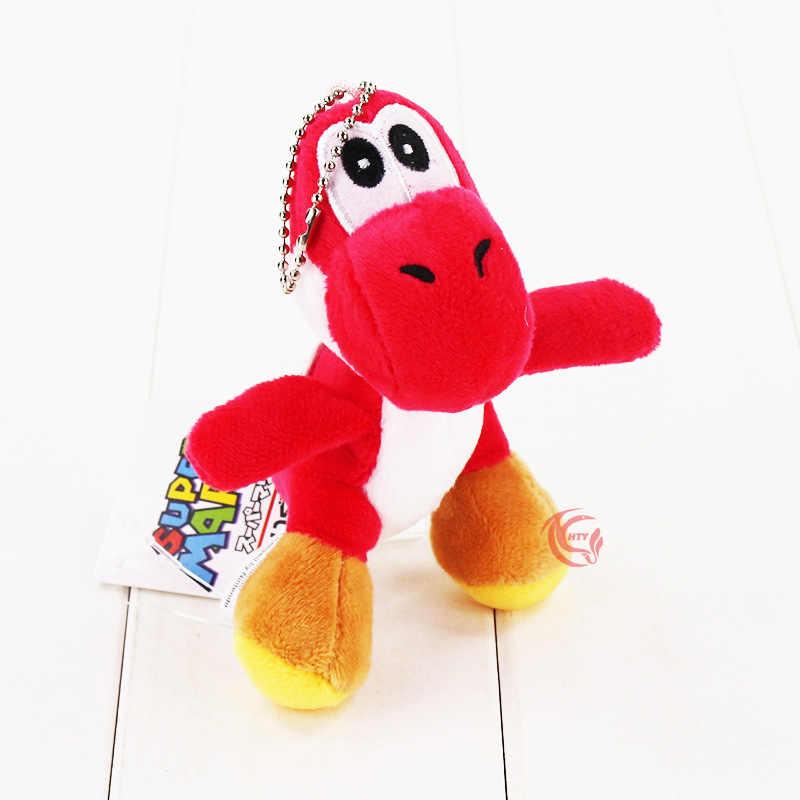 12 CM/1 pcs Super Mario Bros Yoshi Dragão de Pelúcia Boneca de Brinquedo Chaveiro Pingente Cadeia de Telefone Bonito do Dinossauro Animal macio Recheado Figura Brinquedo