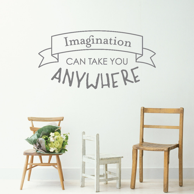 Creative Quotes Wall Sticker For Kids Boy Room Imagination Can