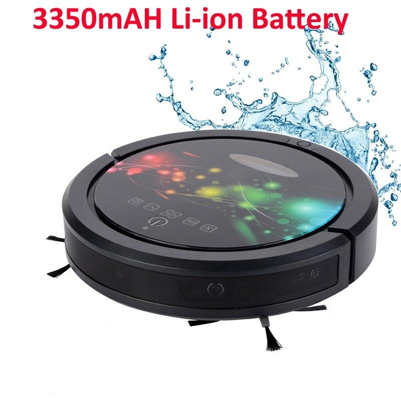 FBA Desconto Big Wet And Dry Robot Vacuum Cleaner com 3350 mah Bateria de lítio, Tanque de Água, parede sonic, sonic Ultra Sensor de
