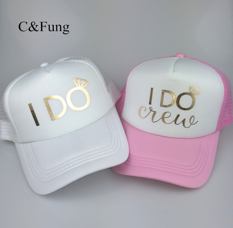C Fung new Team Bride Hats Bachelorette hen Party Hats Gifts To Bridesmaid  beach summer style trucker hats caps 5043cf3fe879