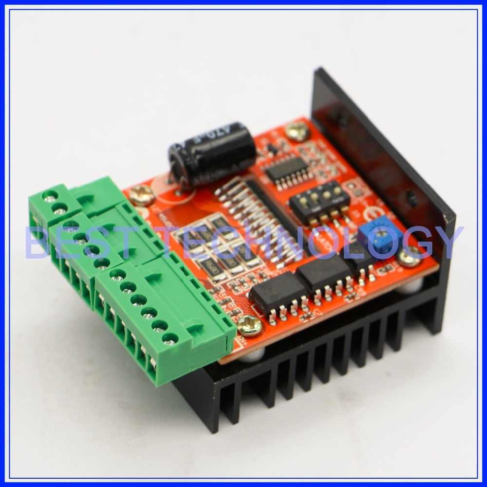 Tb6560ahq chip tb6600 placa de motorista de motor de passo! Controlador do cnc da única linha central do motor de passo 12-48vdc 4.5a!!!
