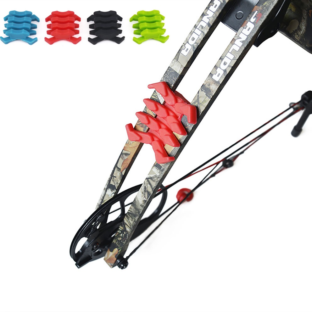 2pcs Compound Bow Stabilizer Rubber Bow Vibration Limb Damper Arrow Shock Sbsorber Damping For Archery Outdoor Hunting