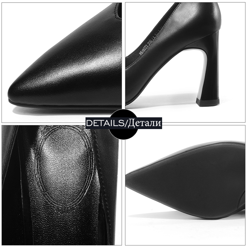 Femelle 2019 Pompes Bureau Profonde Nouveau Chaussures blanc Blanc De Talons Femmes Peu Noir argent gris Hauts Femme Cuir Vache Pointu Printemps En Bout Wetkiss 7dY6wq7