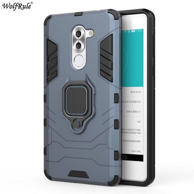 For Huawei Y7 Prime 2018 Case Bumper Ring Holder Bumper For Huawei Y7 2018 Phone Case For Huawei Y7 Prime 2018 Cover 5.99''