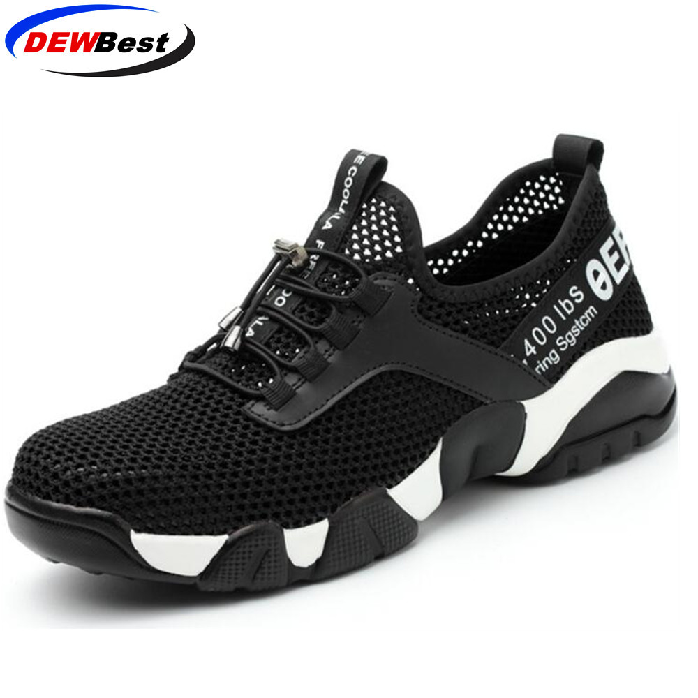 Aramid sole Breathable safety font b shoes b font Women and men s Lightweight summer anti