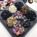 1LOT=2PCS Sewing accessories big size 4.5cm Natural stone beaded buckle stone button high-grade clothing decoration buckle