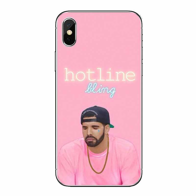 Pour iPod Touch iPhone 4 4 S 5 5 S 5C SE 6 6 S 7 8 X XR XS Plus MAX étuis souples transparents couvre Drake Hotline Bling